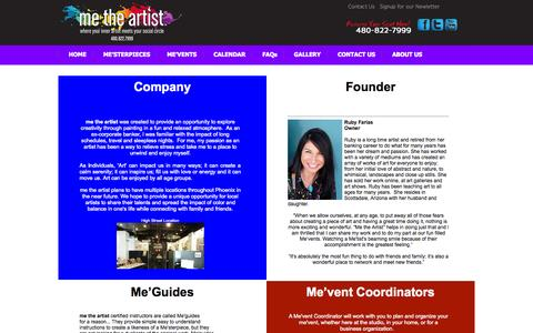 Screenshot of About Page metheartist.com - About US - captured Oct. 7, 2014