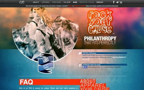Screenshot of FAQ Page rockyourcause.com - Rock Your Cause - captured Oct. 9, 2014