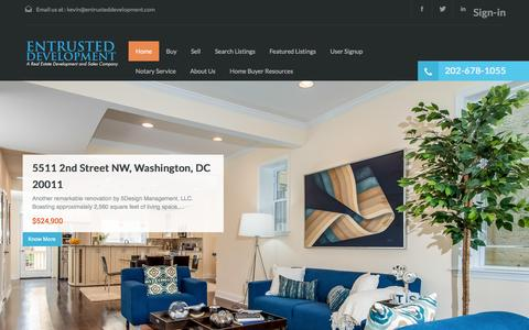 Screenshot of Home Page entrusteddevelopment.com - Entrusted Development - captured Oct. 3, 2014