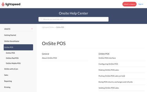 OnSite POS – Lightspeed OnSite