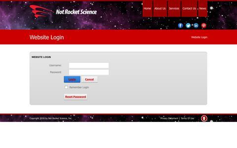 Screenshot of Login Page notrs.com - Website Login - captured Sept. 24, 2018