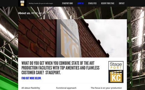 Screenshot of About Page stageportkc.com - About us - StagePort - captured Oct. 7, 2014
