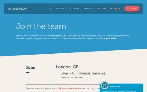 Screenshot of Jobs Page buyapowa.com - Referral Marketing Careers | Buyapowa - captured May 7, 2019