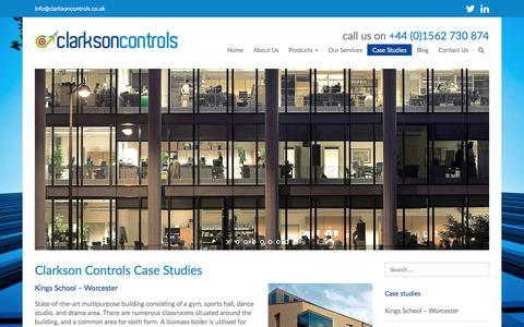 Screenshot of Case Studies Page clarksoncontrols.co.uk - Case Studies - Clarkson Controls - captured Aug. 3, 2017