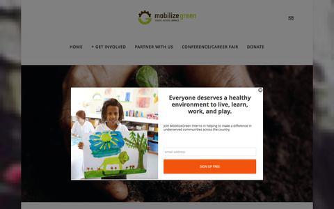 Screenshot of Blog mobilizegreen.org - blog — MobilizeGreen - captured June 12, 2017