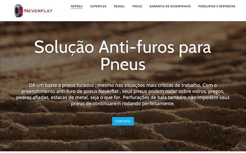 Screenshot of Home Page neverflat.com.br captured Dec. 3, 2016