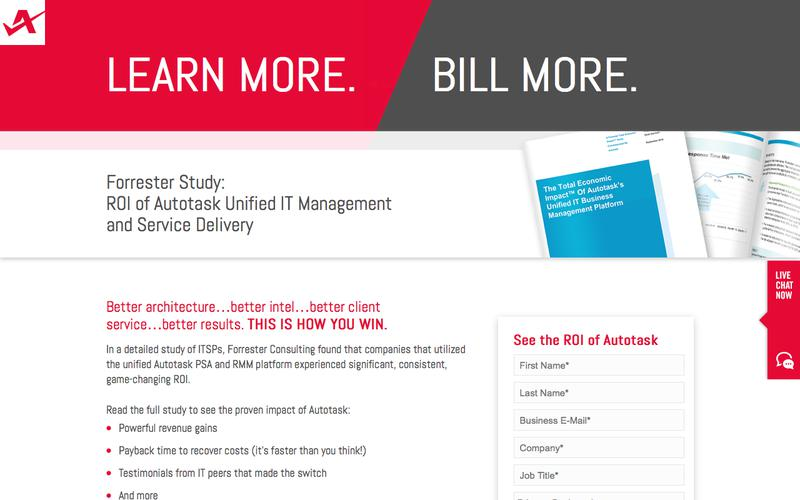 Forrester Study: ROI of Autotask Unified IT Management and Service Delivery