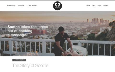 Screenshot of About Page soothe.com - About | Soothe - captured Oct. 9, 2014