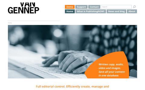 Screenshot of Home Page vangennep.nl - Van Gennep - Media Publishing Solutions - captured Nov. 5, 2017