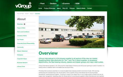 Screenshot of About Page vgroupinternational.com - About vGroup International - captured Sept. 27, 2018