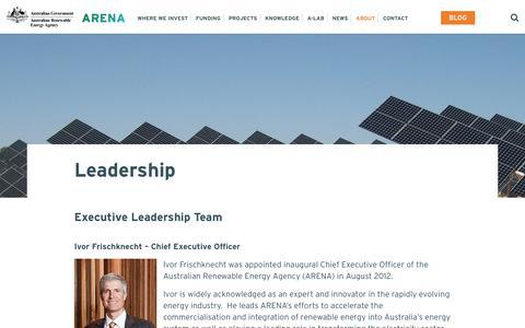 Screenshot of Team Page arena.gov.au - Leadership - Australian Renewable Energy Agency - captured June 27, 2017