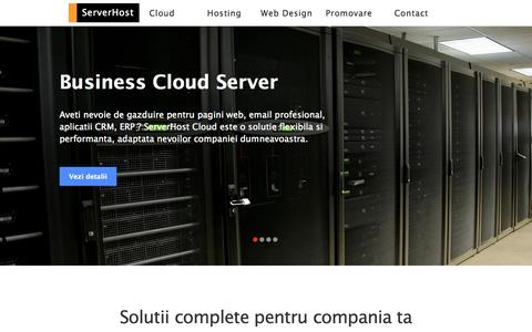 Screenshot of Home Page serverhost.ro - Servicii Complete. Web design, Gazduire, Promovare online - ServerHost - captured Sept. 19, 2014