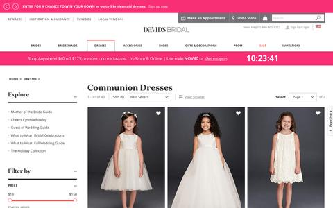 First Holy Communion Dresses for 2016 & 2017 | David's Bridal