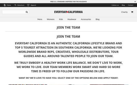 Screenshot of Team Page everydaycalifornia.com - Join The Team - Everyday California - captured Dec. 8, 2018