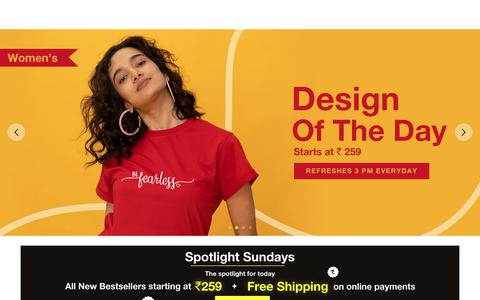 Screenshot of Home Page bewakoof.com - Online Shopping: Buy Men, Women Fashion Clothes, Accessories - Bewakoof.com - captured Feb. 24, 2019