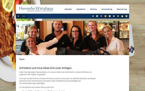 Screenshot of Team Page henneferwirtshaus.de - Team - Hennefer Wirtshaus - captured Oct. 27, 2014
