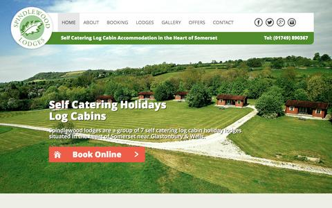 Screenshot of Home Page spindlewoodlodges.co.uk - Self Catering Log Cabins Somerset | Short Breaks - Spindlewood Lodges - captured Dec. 10, 2016