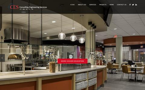 Screenshot of Home Page cesct.com - Consulting Engineering Services - CES | CT, MA, NY, FL - captured Sept. 29, 2018
