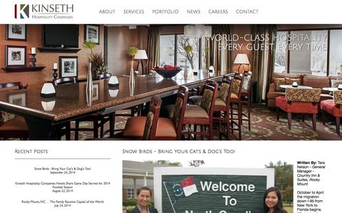 Screenshot of Blog kinseth.com - Kinseth Hospitality Companies Blog - captured Oct. 6, 2014