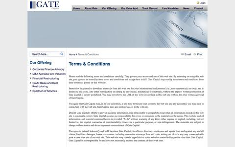Screenshot of Terms Page gatecapital.net - Terms & Conditions - Gate Capital - captured Sept. 29, 2014