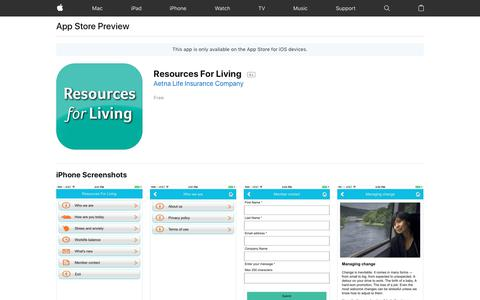 Resources For Living on the AppStore