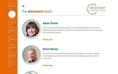 Screenshot of Team Page atconnect.org.uk - Team | at connect - captured Dec. 28, 2015