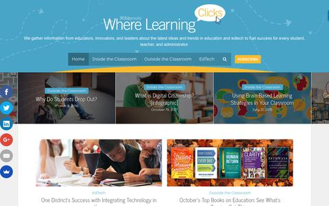 Screenshot of Blog edgenuity.com - The Latest Tips and Trends in Education and EdTech – Where Learning Clicks - captured Oct. 6, 2018