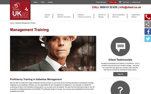 Screenshot of Team Page ukasl.co.uk - Asbestos Management Training | BOHS Proficiency Certification - captured Nov. 11, 2018