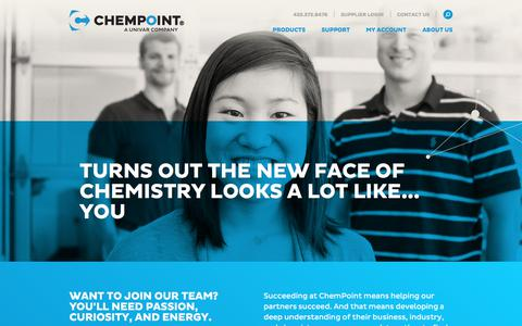 Screenshot of Jobs Page chempoint.com - Careers - ChemPoint - captured July 17, 2018