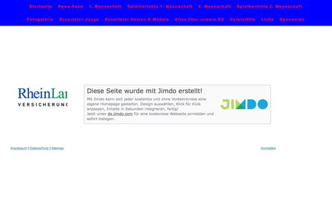 Screenshot of About Page sgsauertal.com - Impressum - SG SAUERTAL - captured June 8, 2016