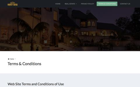 Screenshot of Terms Page property4buyers.com - Terms & Conditions | PROPERTY 4 BUYERS - captured July 25, 2018