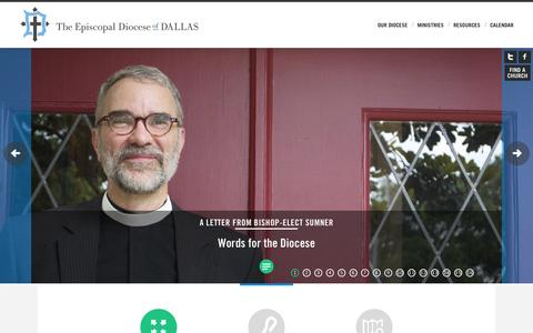 Screenshot of Home Page edod.org - Episcopal Diocese of Dallas - captured June 23, 2015