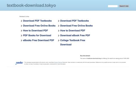 Screenshot of Home Page textbook-download.tokyo - textbook-download.tokyo-This website is for sale!-textbook-download Resources and Information. - captured Oct. 16, 2017