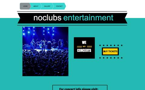 Screenshot of Home Page noclubs.com - No Clubs Entertainment - captured Oct. 6, 2014