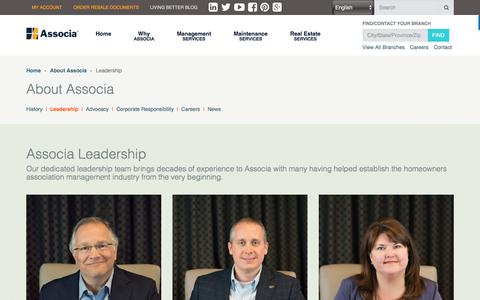 Screenshot of Team Page associaonline.com - Leadership | Associa - captured July 5, 2017