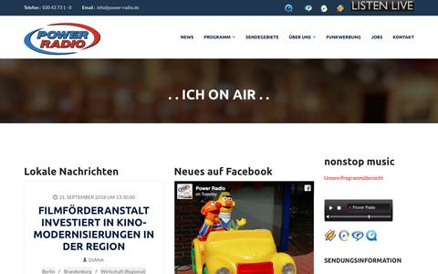 Screenshot of Home Page power-radio.de - Power Radio - captured Sept. 23, 2018