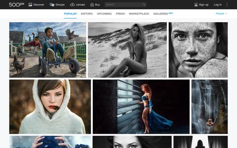 Screenshot of Team Page 500px.com - Most Popular People Photos on 500px Right Now - captured Dec. 16, 2015