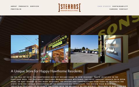 Screenshot of Case Studies Page rfstearns.com - Case Studies — R.F. Stearns - captured Oct. 18, 2017