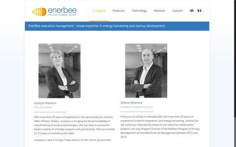 Screenshot of Team Page enerbee.fr - Enerbee - Management Team - captured July 14, 2016