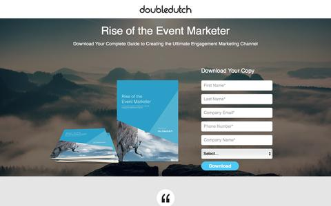 Screenshot of Landing Page doubledutch.me - Mobile Apps for Events and Conferences by DoubleDutch - captured Oct. 18, 2016