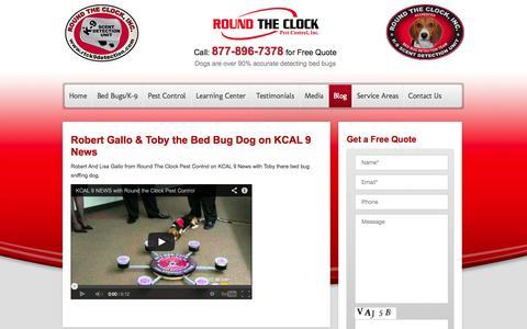 Screenshot of Blog roundtheclockpestcontrol.com - Blog   - RTC Pest Control- RTC Pest Control - captured Oct. 1, 2014
