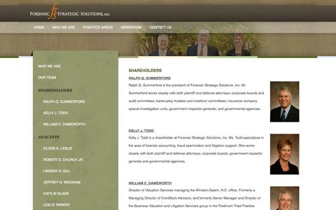 Screenshot of Team Page forensicstrategic.com - Our Team   Forensic Strategic Solutions - captured Oct. 6, 2014