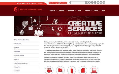 Screenshot of abstraktmg.com - Creative Marketing Agency | Abstrakt Marketing Group | Abstrakt Marketing Group - captured Oct. 11, 2014