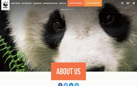 Screenshot of About Page wwf.org.au - All About WWF Australia & Our Work - WWF - WWF-Australia - captured Sept. 22, 2018