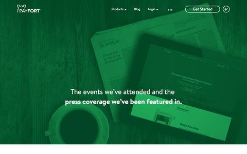 Screenshot of Press Page payfort.com - Payfort | Press Release - captured Dec. 6, 2015