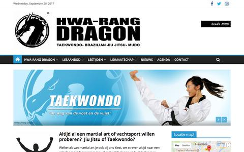 Screenshot of Home Page taekwon.nl - Hwa-Rang Dragon Haarlem Heemstede - captured Sept. 19, 2017