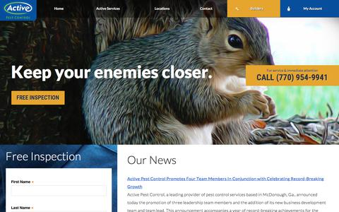 Screenshot of Press Page activepestcontrol.com - Our News   Active Pest Control®   Pest Control - captured July 28, 2018