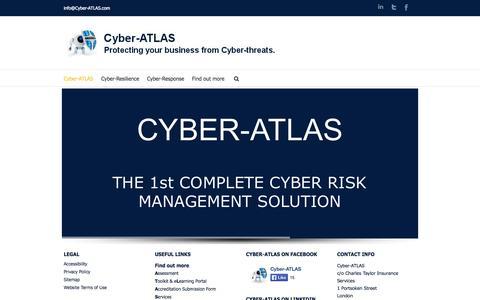 Screenshot of Home Page cyber-atlas.com - Cyber-ATLAS - captured Sept. 30, 2014
