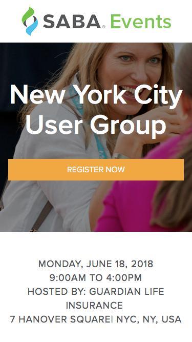 Saba Regional User Group | NYC, NY