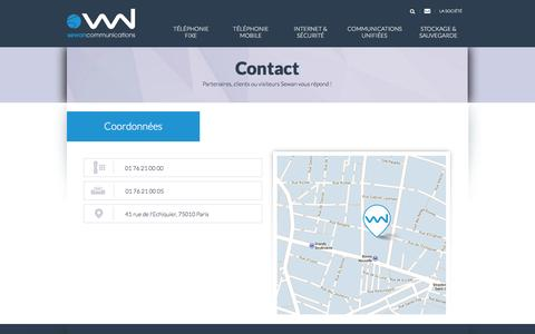 Screenshot of Contact Page sewan.fr - Sewan Communications - captured Oct. 26, 2014